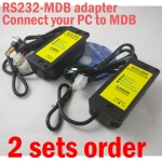 2 Sets RS232-MDB adapter ,Connect PC to Vending Machine